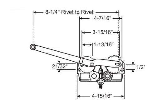 entrygard single arm operators  style parts casement window    models