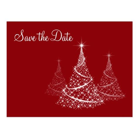 christmas save the date postcard