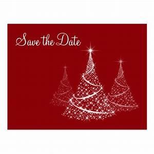 Christmas Save the Date postcard