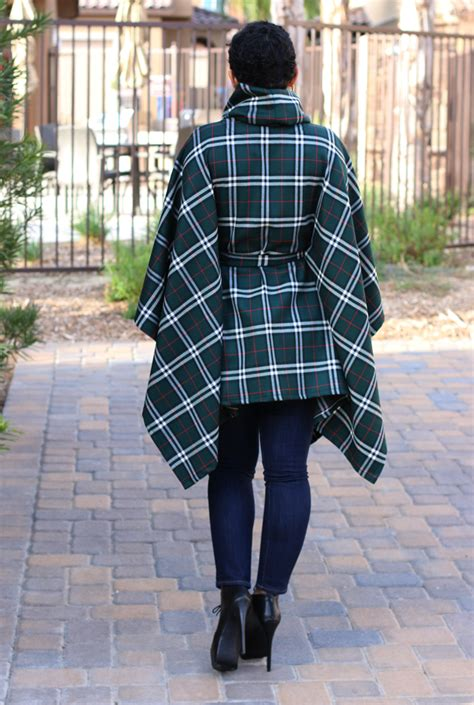 diy belted poncho removable neck warmer pattern review