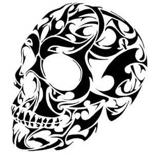vinyl designs tribal skull vinyl decal any sizes any designs