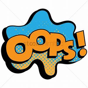Oops text with comic effect Vector Image - 1823185 ...