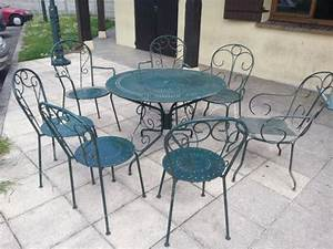 Salon jardin fer forge clasf for Salon de jardin en fer forge