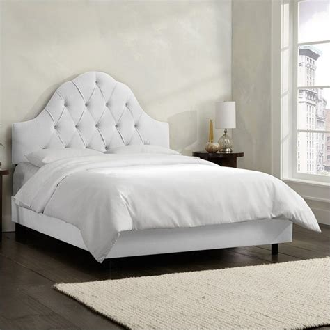 furniture tufted bed skyline furniture arch tufted bed in white 86xbedvlvwht
