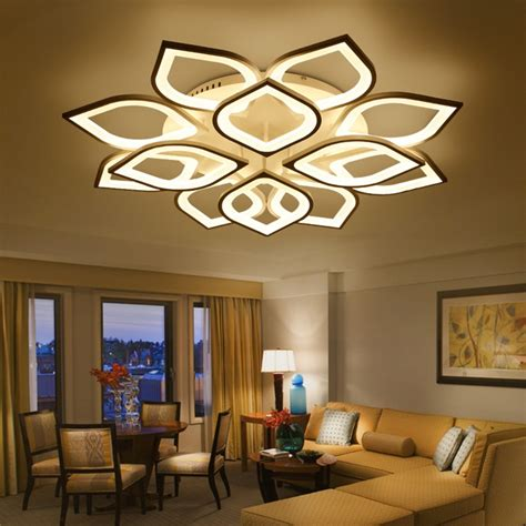 modern luxury living room led ceiling l creative lustre