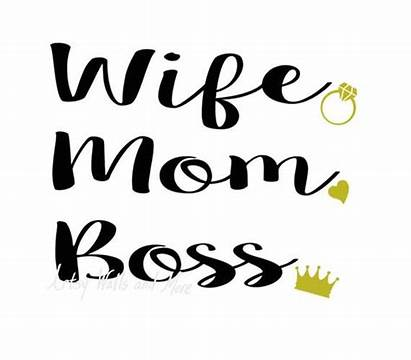 Boss Svg Mom Wife Mother Mommy Silhouette