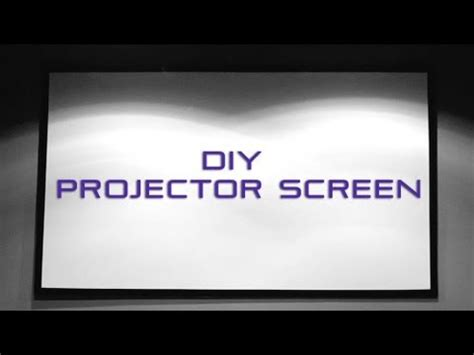 diy projector screen  blackout cloth