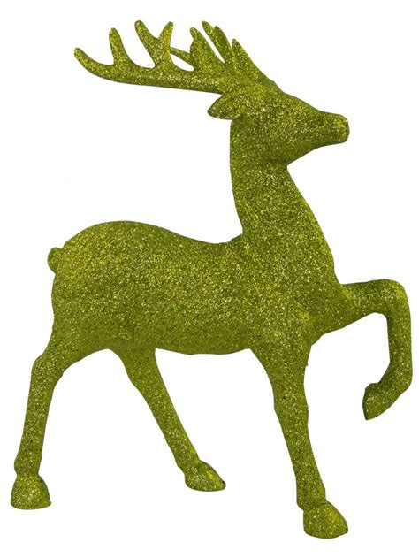 green reindeer lime green prancing reindeer ornament 20cm ornaments the warehouse