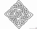 Celtic Knot Coloring Square Pattern Printable Adults Bettercoloring sketch template