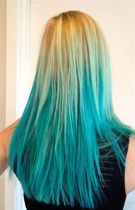 Blue Hairstyles For Long Hair Fade Haircut