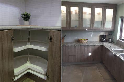 classic kitchen  sanoma oak pvc wrap finish cupboardline