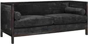 lenox sofa charcoal solid velvet modern sofas by With charcoal velvet sectional sofa