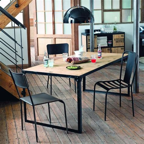 chaise de bureau maison du monde table à dîner indus docks maisons du monde pickture