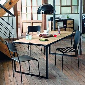 Table Maison Du Monde : table d ner indus docks maisons du monde pickture ~ Teatrodelosmanantiales.com Idées de Décoration
