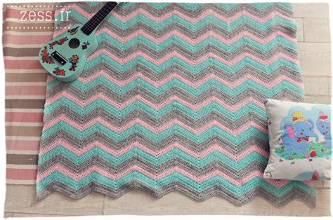 diy 2 plaids au crochet square vs chevron