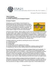 ecological footprint worksheet with answers footprint