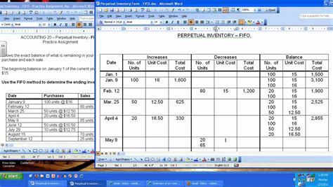 perpetual inventory fifo youtube
