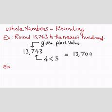Whole Numbersrounding Examples Youtube