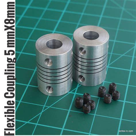 aluminium flexible coupling coupler helical shaft couplings mmmmmm pcs vortex rc