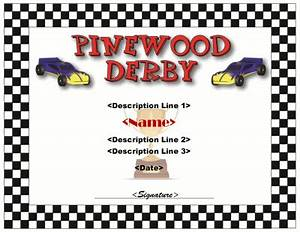 pinewood derby certificate template cub scout derby With pinewood derby certificate pdf