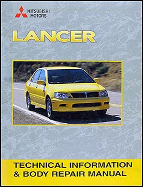 2004 mitsubishi lancer repair shop manual original 4 volume