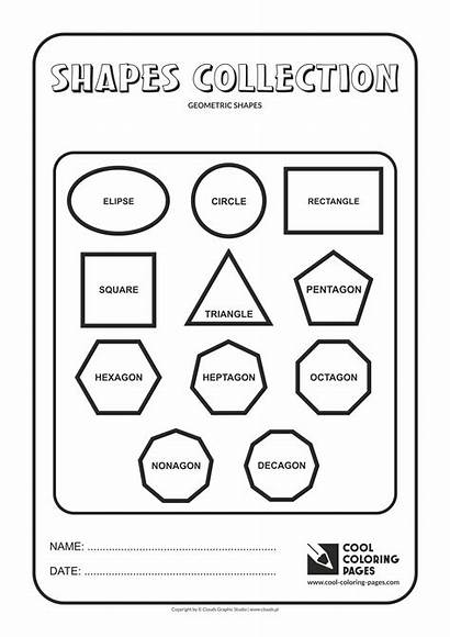 Shapes Geometric Coloring Pages Cool Geometry Educational