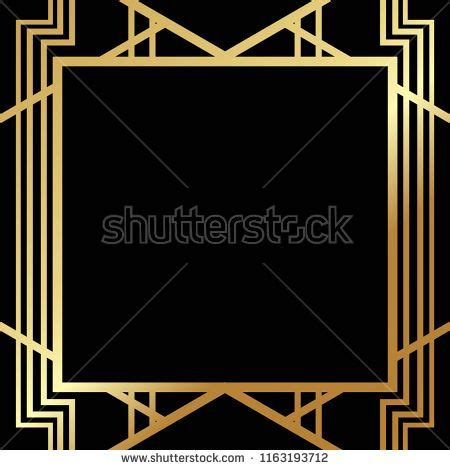 art deco gatsby inspired roaring  style frame template