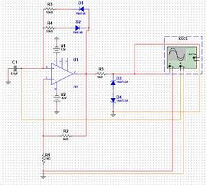 Astable Multibrator Square Wave Generator Using Op