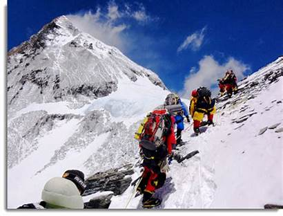 Everest Mt Climbers Climbing Avalanche Triggered Dead