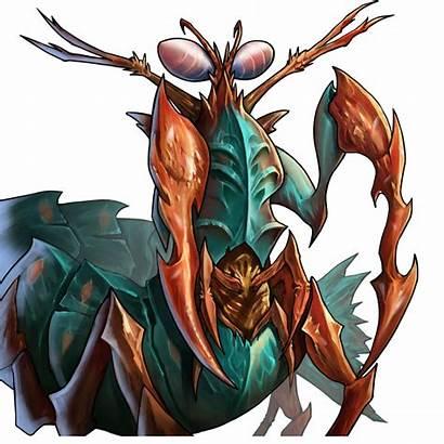 Mantis Shrimp War Saltwater Gems Troop