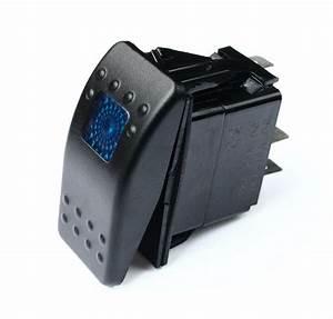 Polaris Rzr 800 Xp 900 Rocker Switch Waterproof Off Road 20a 12v Blue Light Utv