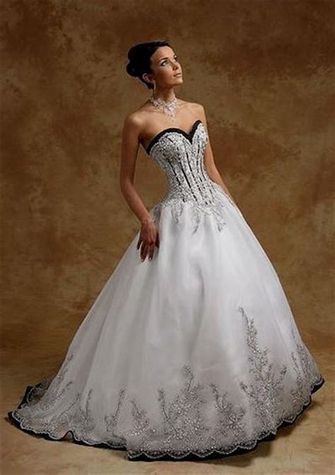 black and white corset wedding dresses naf dresses