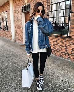 Pinterest | @quynhxnh | wear || outfits | Pinterest | Oversized denim jacket Denim jackets and ...