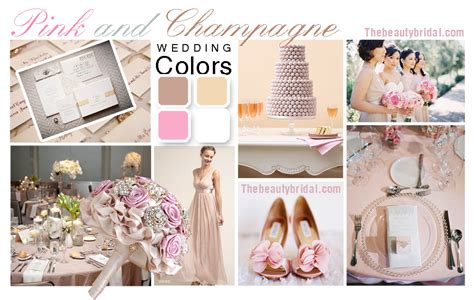 wedding color palette chagne and pink wedding color palette bridal dress wedding gown planning
