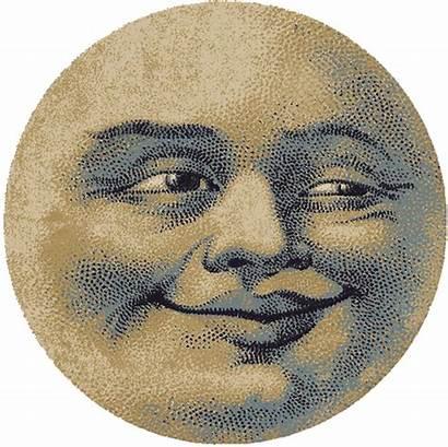 Moon Face Rug Round Rugs Dakota American