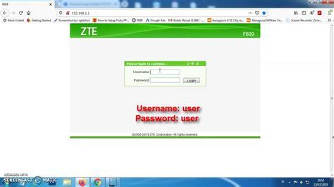 Liberar cualquier modem zte facil y rapido. 2 Password Modem ZTE F609 Terbaru 2020 - YouTube