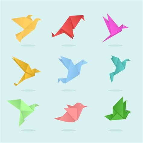 origami animals vector   vector art stock