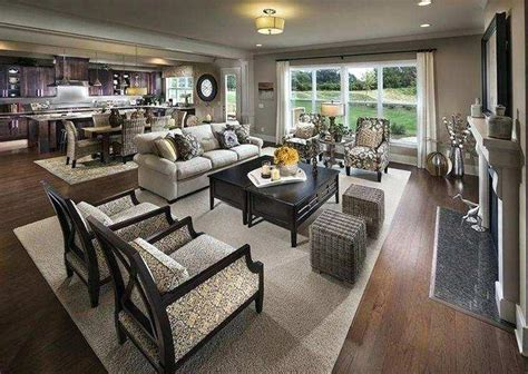 Luxurious Open Concept Living Room Furniture Placement For