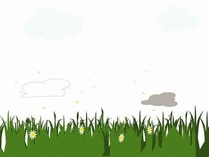 Clip Landscape Clipart Grass Field Cliparts Cartoon