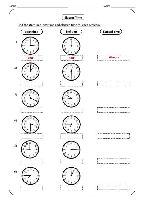 elapsed time worksheets grade printable shelter