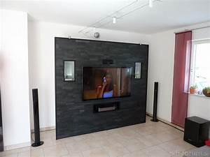 Steinwand Wohnzimmer Tv : das projekt doityourself projekt steinwandmultimedia hifi bildergalerie ~ Bigdaddyawards.com Haus und Dekorationen