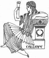 Calliope Muse Ancient Poetry Greek Mythology Myths Epic Musa Muses Cerca Presentazione Eldest Voiced Legends Fair Roman Gods sketch template