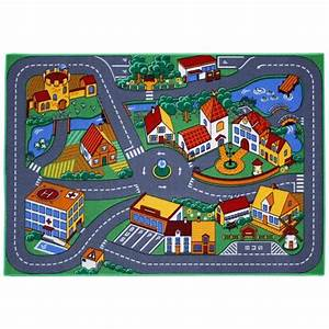 Tapis Enfant Route : tapis enfant ville et routes 95x133cm achat vente ~ Teatrodelosmanantiales.com Idées de Décoration