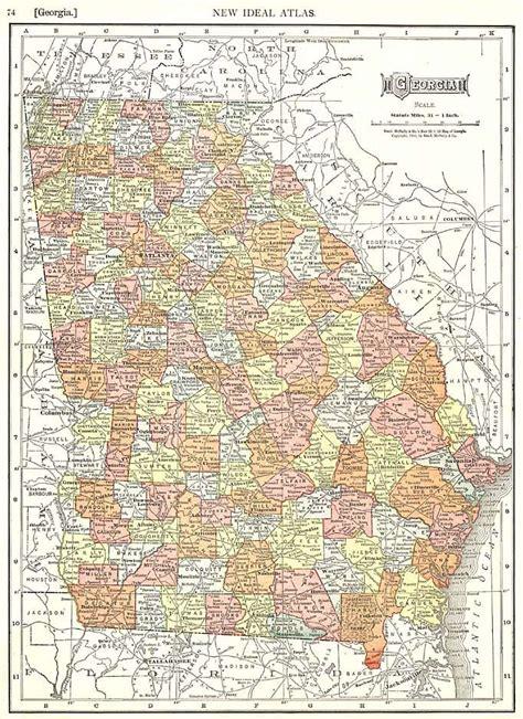 Maps - 1910 Georgia Map - GeorgiaInfo