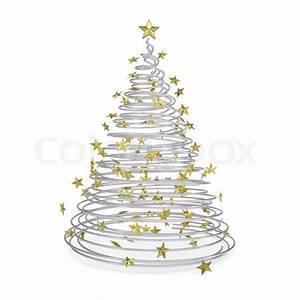 Weihnachtsbaum Metall Design : 3d weihnachtsbaum aus metall spiralen und goldenen sternen stockfoto colourbox ~ Frokenaadalensverden.com Haus und Dekorationen