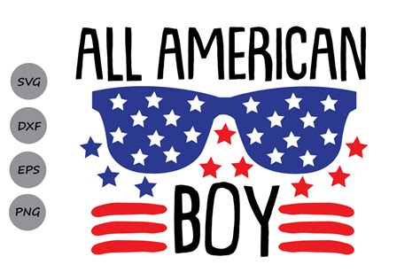 Enter zip code or city, state.error: All American Boy  4th of July SVG Cutting Files - SoFontsy