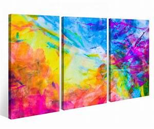 Eigene Bilder Auf Leinwand : leinwandbild 3 tlg wasserfarben abstrakt abstrakte kunst bunt leinwand bild bilder fertig ~ A.2002-acura-tl-radio.info Haus und Dekorationen