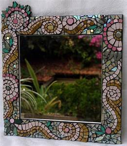 mosaic framed mirror wall art mosaic art wall by With mosaic wall art