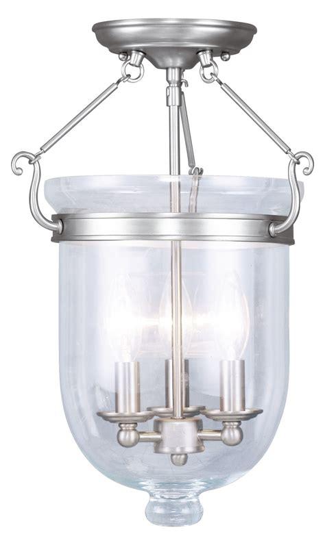 semi flush foyer lights livex lighting brushed nickel foyer hall semi flush mount
