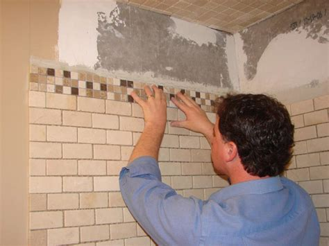 shower wall tile installation how to install tile in a bathroom shower how tos diy